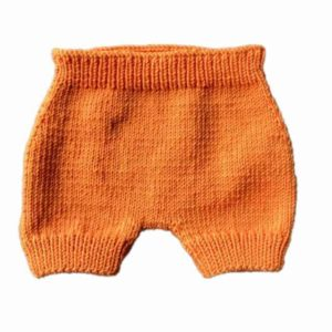 grannie tricot culotte orange pour couches lavables